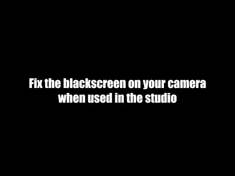 TIP solve that black screen on EVF cameras in the studio