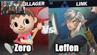 Leffen (Link) vs ZeRo (Villager) - Super Smash Bros. Ultimate | E3 2018