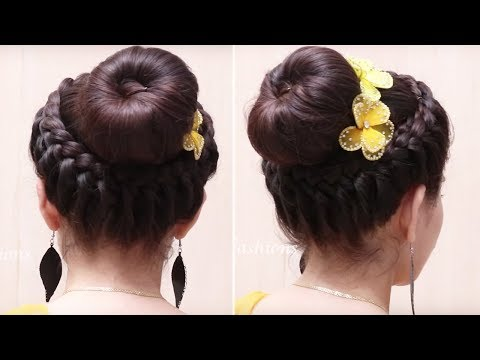 Classic Donut Bun Hairstyles | Quick and Easy Hairstyles | Dance Hairstyles