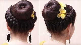 classic donut bun hairstyles quick and easy hairstyles dance hairstyles