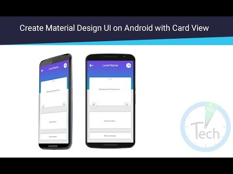 Create Material Desing UI on Android with Card View Sample of Play Quiz Game