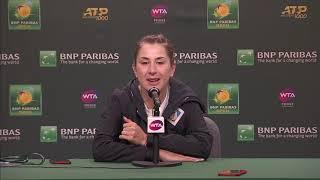Belinda Bencic Post-Semifinal Match Press Conference a the BNP Paribas Open