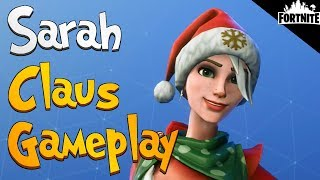 FORTNITE - Sarah Claus Gameplay (Snowball Launcher Secrets)