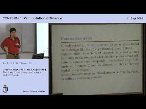 Lecture 4 - Futures and Options