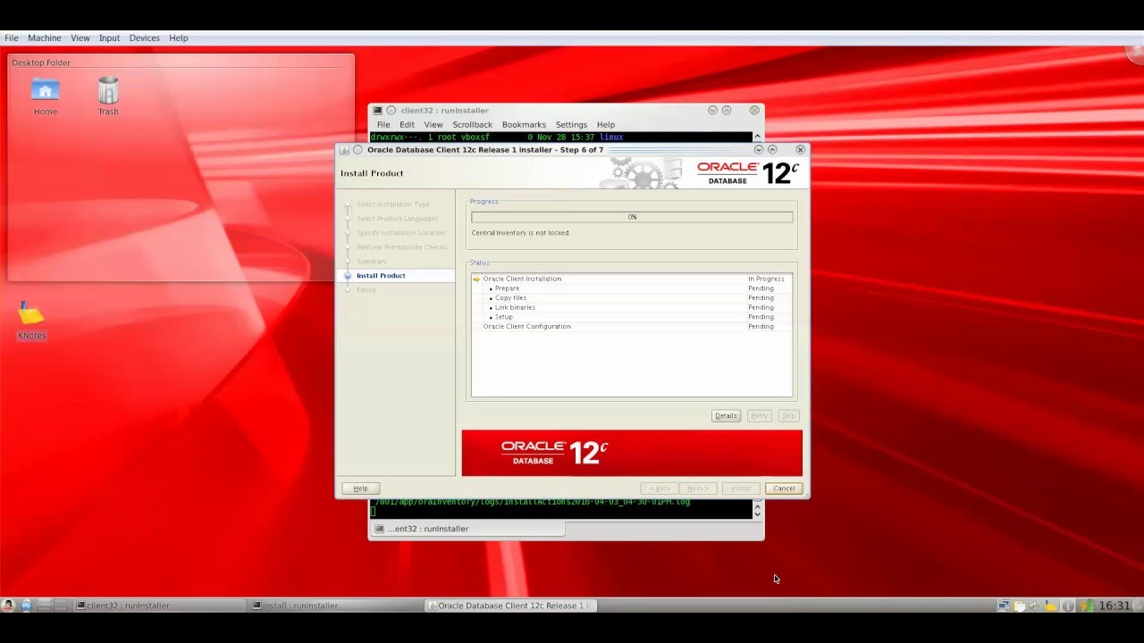 Oracle 12c client on Linux ( OEL 6 4 )