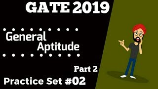 GATE 2019 Most Expected Questions ONLINE MOCK TEST 2 B | General Aptitude for GATE 2019 By PhysBoy