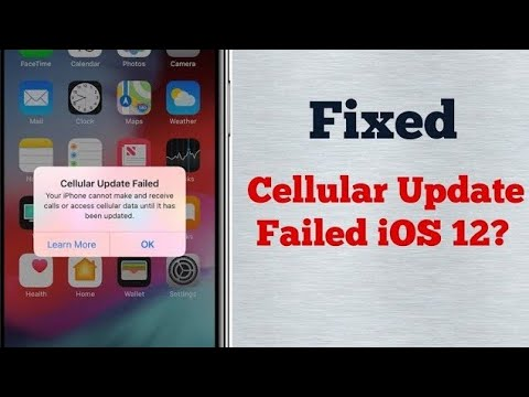 Cellular Update Failed iPhone can't make or receive calls or access cellular data until it updated