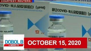 Dobol B Sa News TV Livestream: October 15, 2020 (Part 2) | Replay