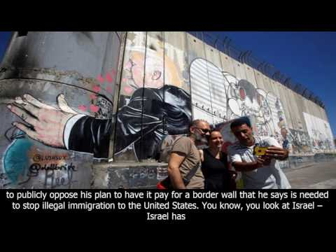 Donald Trump 'banksy' Graffiti Appears On Israel's Security Barrier In Bethlehem - News Az 247