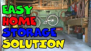 Garage Hanging Storage | Tidymaker Home Storage Ideas And Workshop Solutions