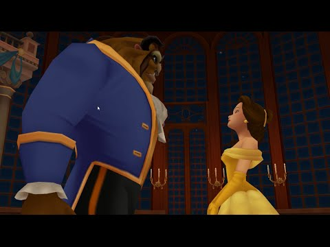 Kingdom Hearts 2 HD Final Mix MOVIE (Disney's Beauty and The Beast) 60FPS 1080P