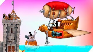 СУПЕР ПУШКА ДИРИЖАБЛЬ БОСС Катапульта:Атака пиратов The Catapult:Clash With Pirates Игры для андроид