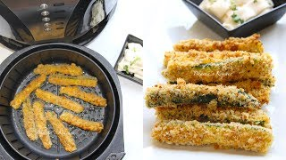 Air Fryer Crispy Zucchini Fries Video Recipe | Bhavnas Kitchen