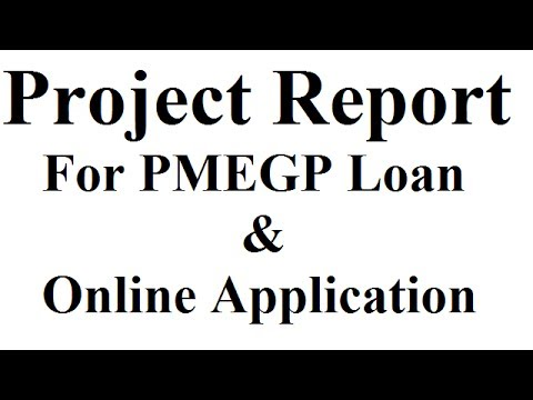 Project Report for Bank Loan under PMEGP Scheme