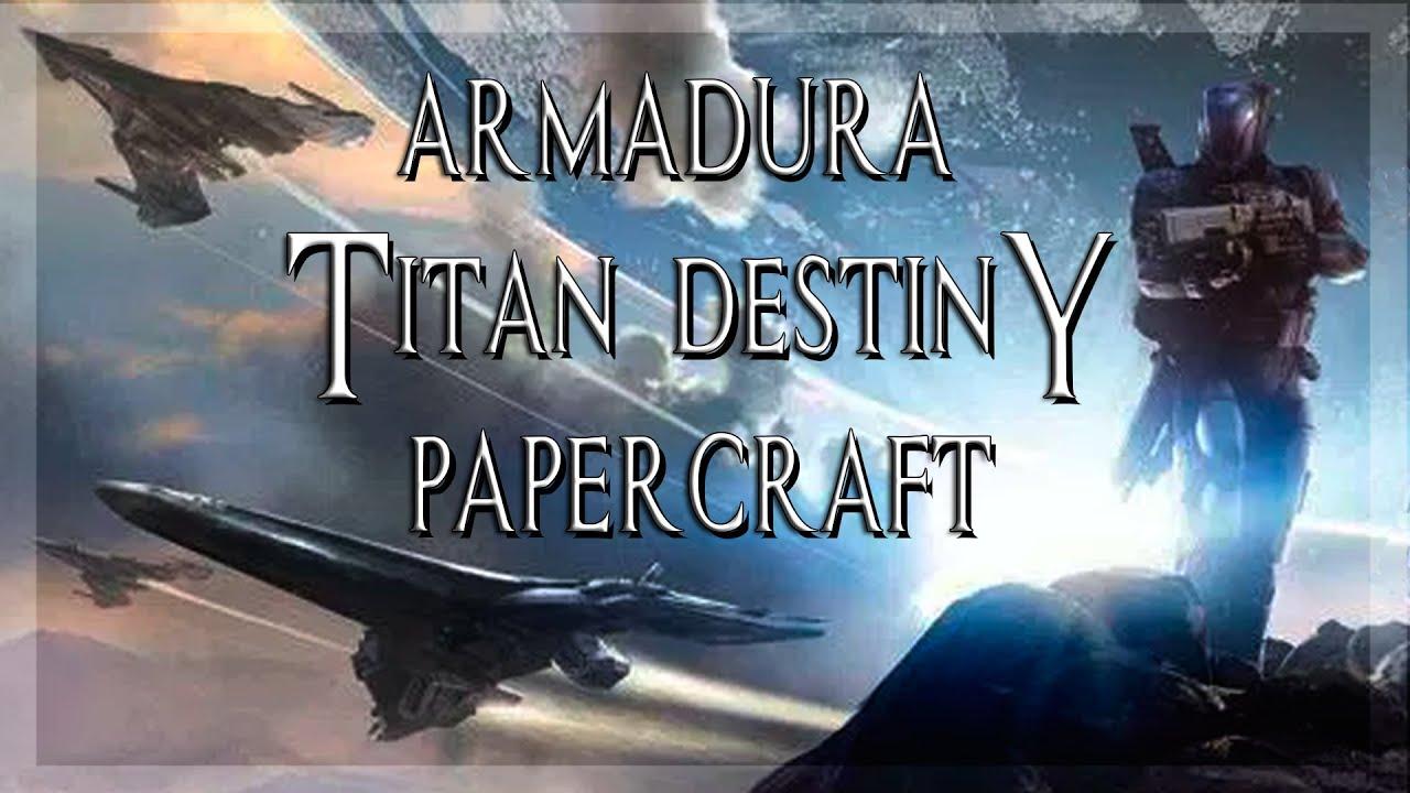 Papercraft Armadura titan destiny completa papercraft