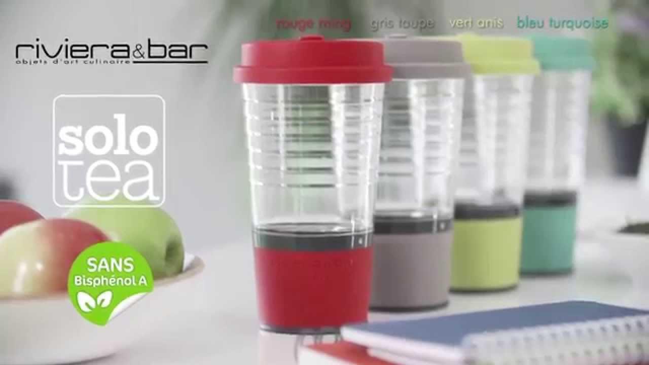 mug solo tea riviera et bar mug infuseur th automatique youtube. Black Bedroom Furniture Sets. Home Design Ideas