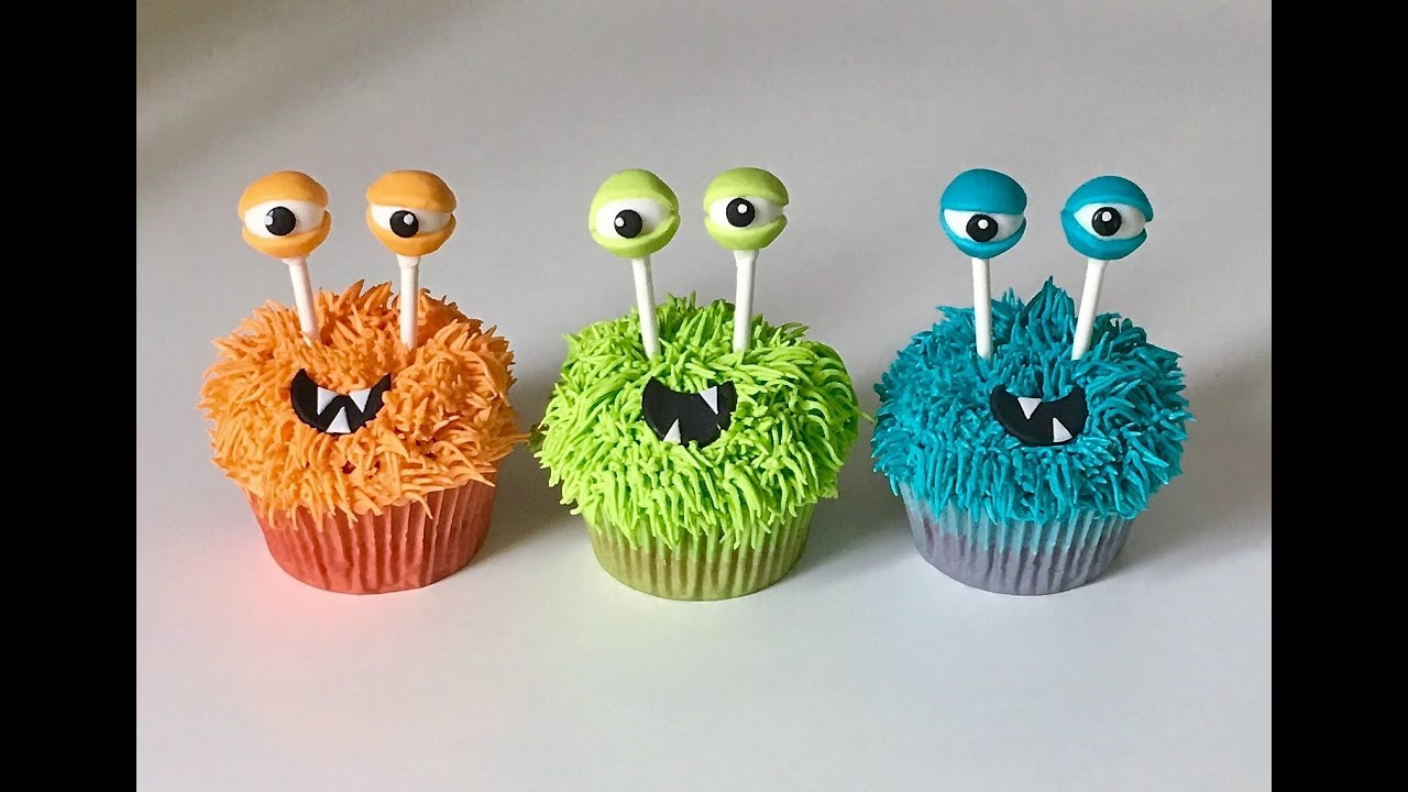 Cake decorating tutorials how to make monsters cupcakes