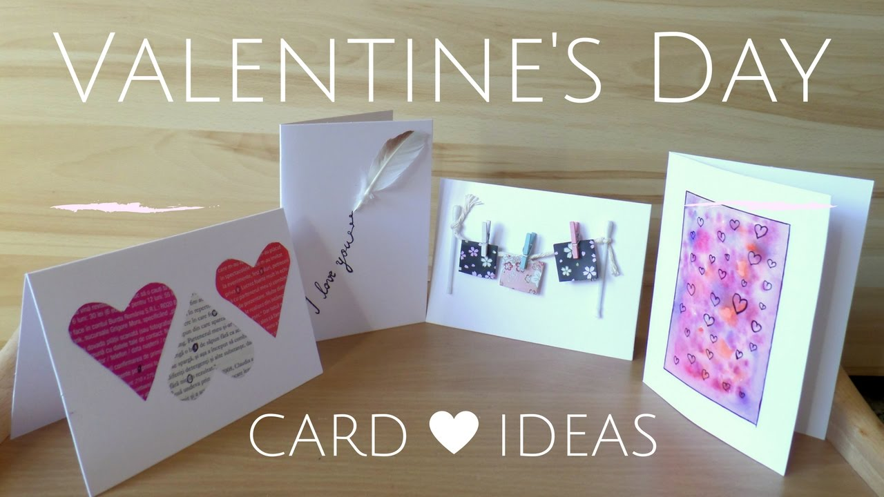 DIY Easy Valentines Day Cards  Creative Valentine Card Ideas for