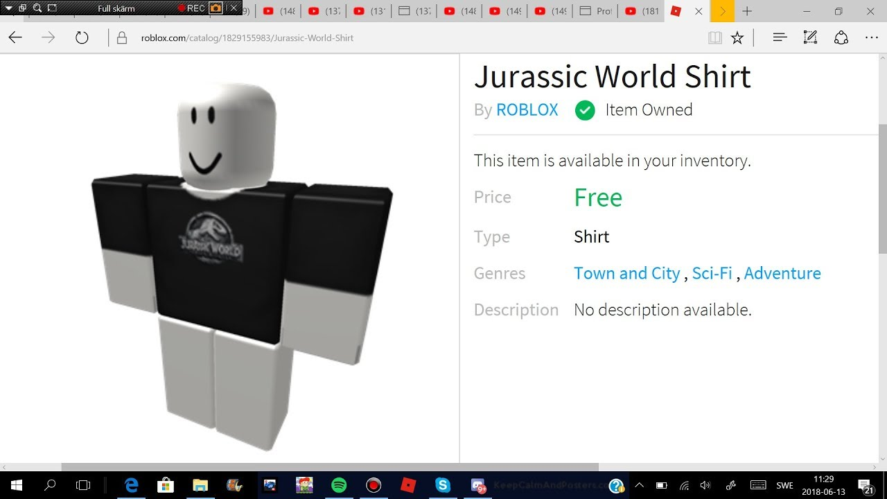 Jurassic World T Shirt Roblox