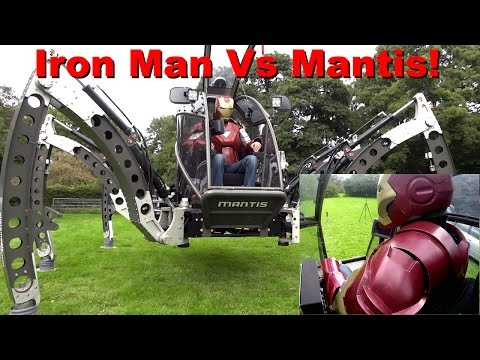 XRobots - Iron Man Drives the GIANT Mantis Robot *PART 2* Detailed Driving Breakdown