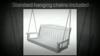 Polywood Nautical 4ft. Recycled Plastic Porch Swing - Ns48