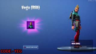 "*NEW* UNLOCKING VEGA ""RED"" Style on Fortnite Battle Royale Season 9"