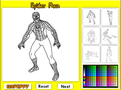 Spiderman Coloring Pages For Kids Spiderman Coloring Pages Games