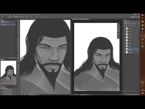 Finishing Male Portrait