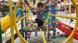 Outdoor Playground for kids Family Fun & ABC song