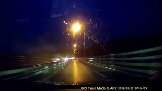 Perfection! Tesla AP2 2018.2 Oeddd23 Autopilot Auto Wipers Merging Lanes
