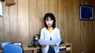 My name is momoka. The grade five elementary schools.