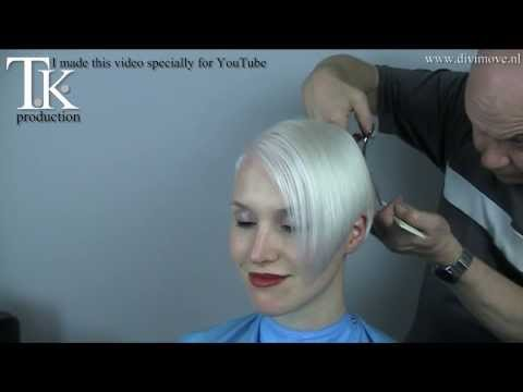 3 times asymmetrical short, sexy blonde hairstyle for Emmie! by T K