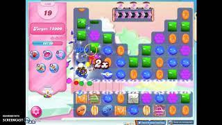Candy Crush Level 1409 Audio Talkthrough, 3 Stars 0 Boosters