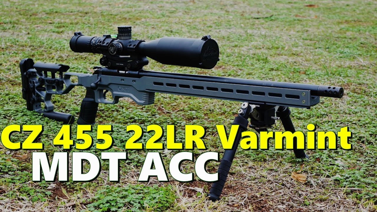 CZ 455 Varmint / MDT ACC   Precision, long range and ELR 22LR