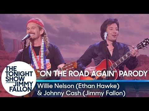 """""""On The Road Again""""/""""Let's Just Stay Here"""" Duet with Willie Nelson and Johnny Cash"""