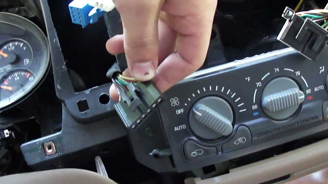 maxresdefault 1998 chevy blazer] how to remove the dash bezel and factory radio Chevy Truck Wiring Harness at gsmportal.co