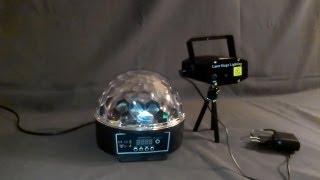 �������� ���� Обзор светомузыки (Crystal Magic Ball и Party Laser) ������