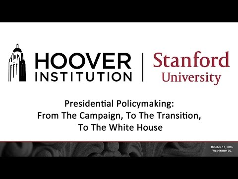 Presidential Policymaking: From The Campaign, To The Transition, To The White House