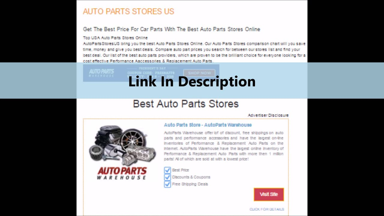 Auto Parts Stores Near Me Youtube