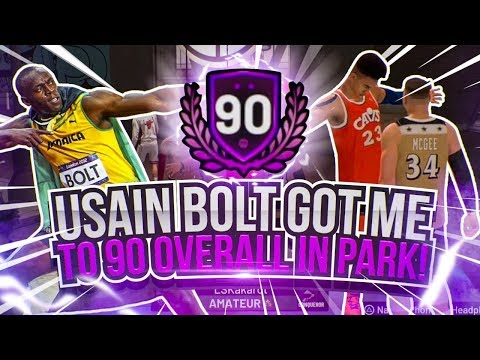 Usian Bolt GOT ME TO *90 Overall* in Park! NBA 2K19