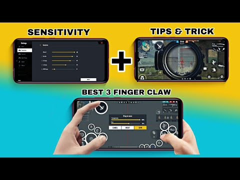 FREE FIRE BEST 3 FINGER CLAW SETTINGS EVER | SETUP , SENSITIVITY, SETTING, TIPS &TRICK