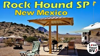 Camping at Rock Hound State Park, New Mexico