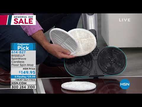 bissell-spinwave-cordless-floor-spin-mop