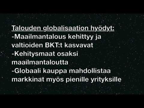 Talouden Globalisaatio