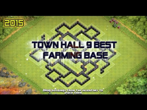 Town hall 9 best farming base 2015 clash of clans youtube