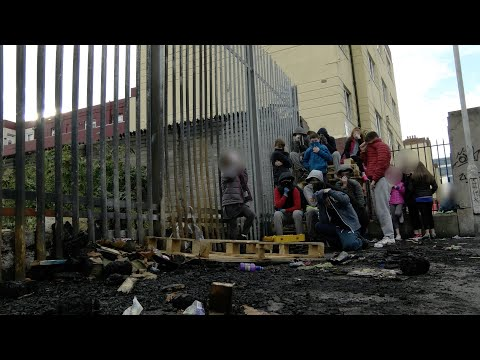 Bonfire battles on Dublin's streets