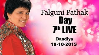Falguni Pathak Raas Garba 2015 | Ghatkopar - Mumbai Day 7 Live -19th Oct 2015