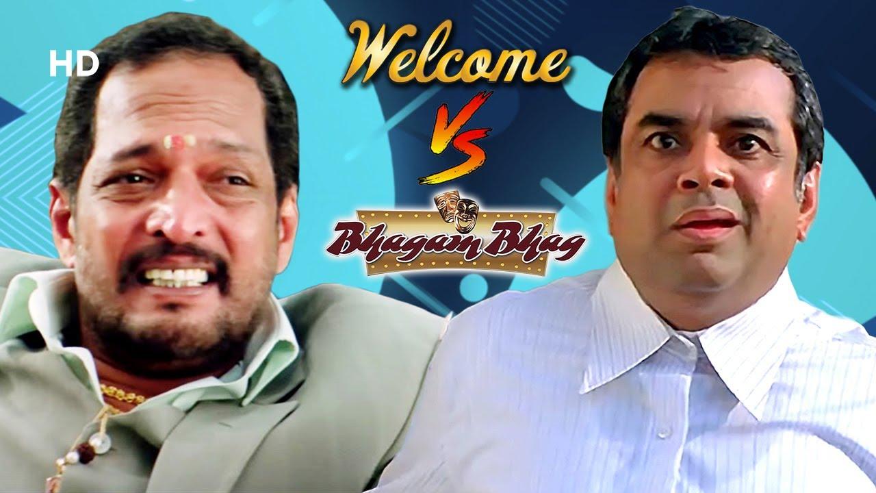 Welcome V/S Bhagam Bhag | Best of Hindi Comedy Scenes | Akshay Kumar - Paresh Rawal -  Nana Patekar