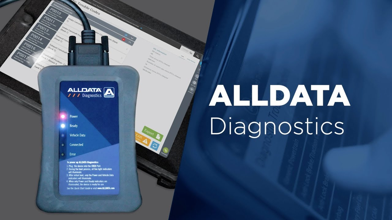 ALLDATA Diagnostics - Professional Automotive Scan Tool