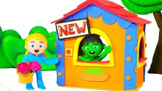 SUPERHERO BABY NEW HOUSE ❤ SUPERHERO BABIES PLAY DOH CARTOONS FOR KIDS